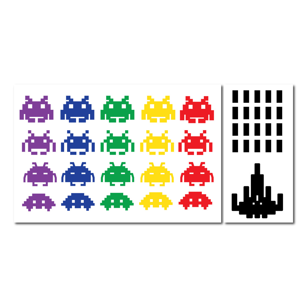 Space Invader Pattern Decal - Set of 41