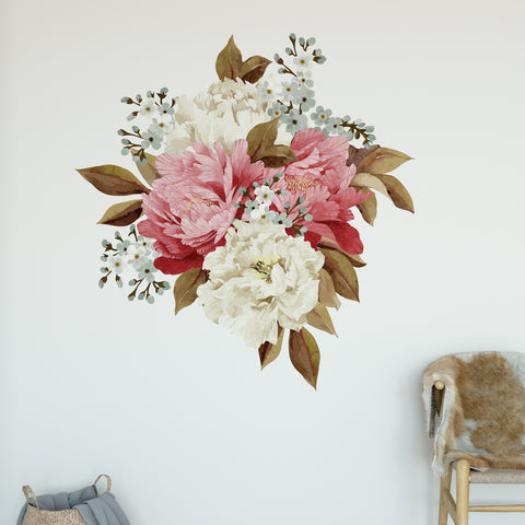 Peonie Bouquet Floral Wall Sticker