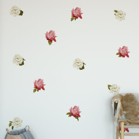 Mini Peonies Floral Wall Sticker