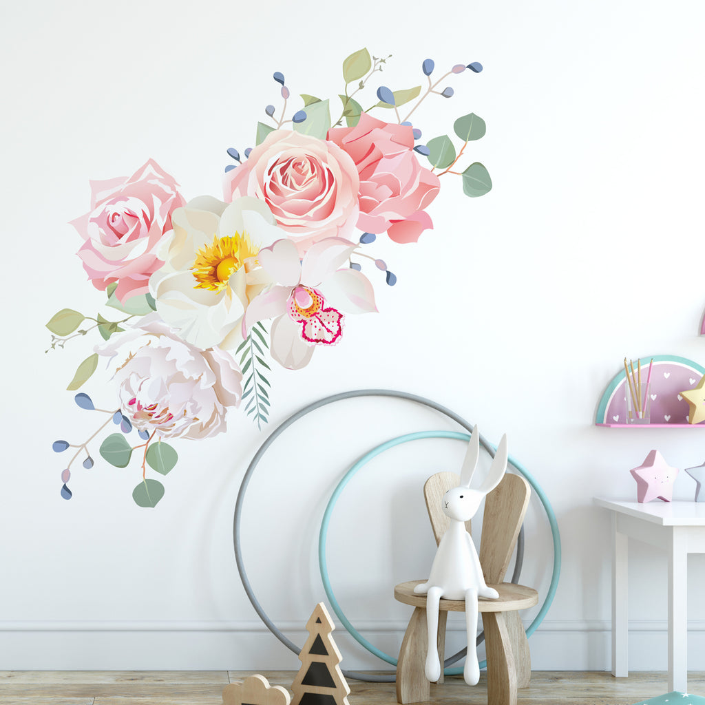 Rose Bouquet Floral Wall Sticker