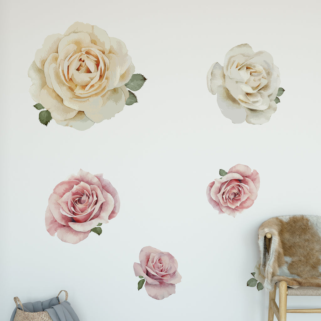 Rose Floral Collection Wall Sticker