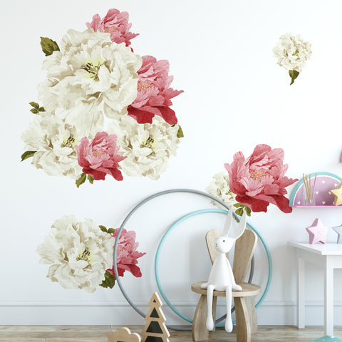 Peonies Floral Collection Wall Sticker