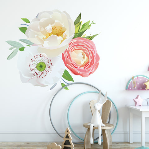 Soft Flower Bouquet Floral Wall Sticker