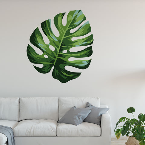 Split Leaf Philodendron Floral Wall Sticker