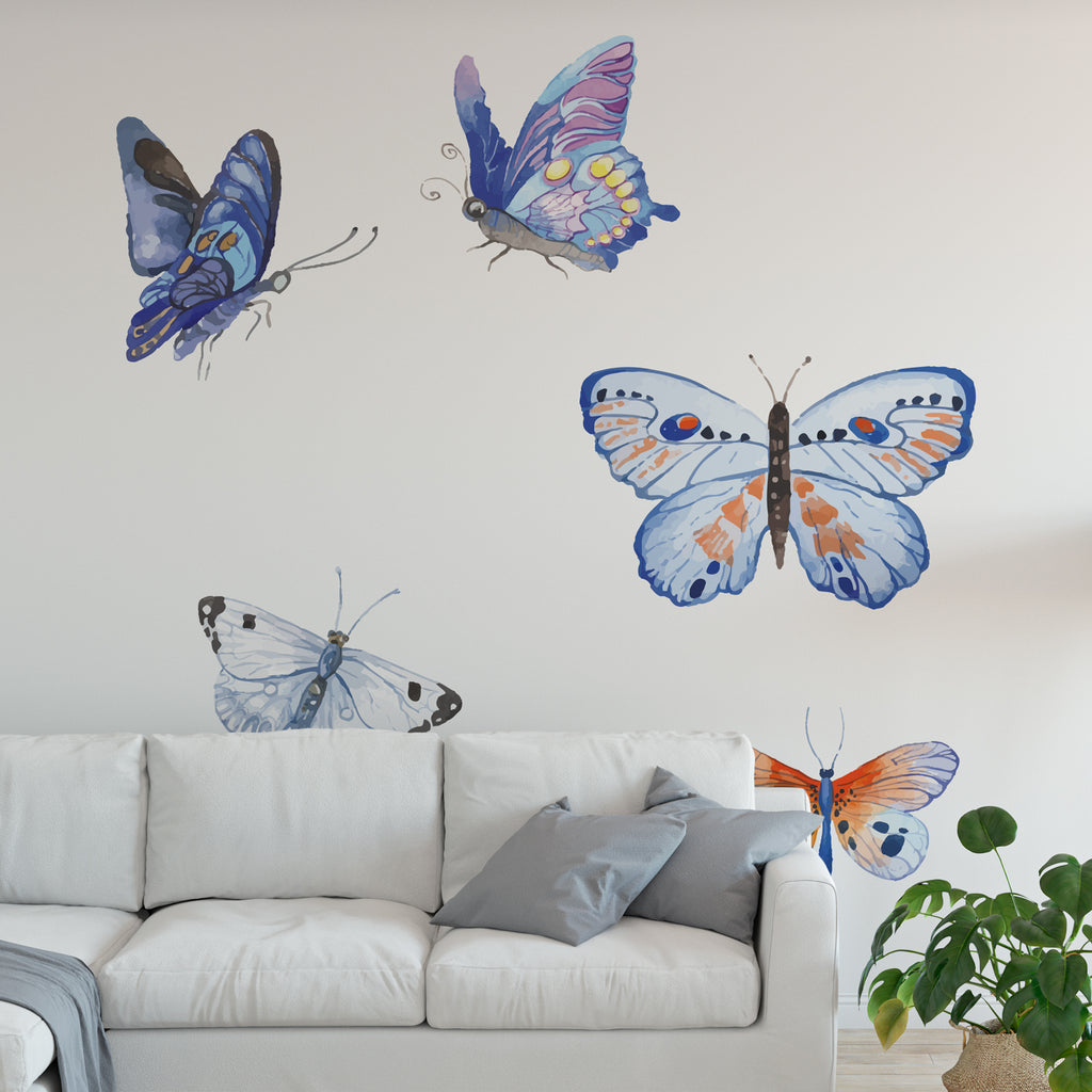 Watercolour Butterfly Floral Collection Wall Sticker