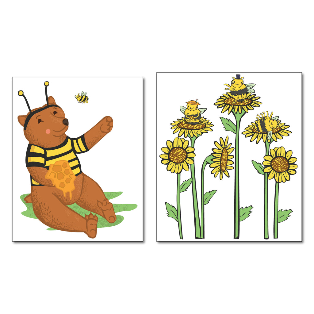 Bear and Bees Wall Sticker