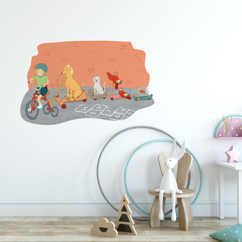 Pet Train Wall Sticker
