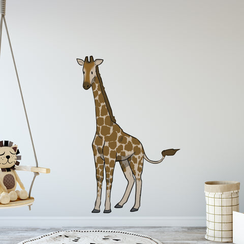Standing Giraffe Safari Collection Wall Sticker