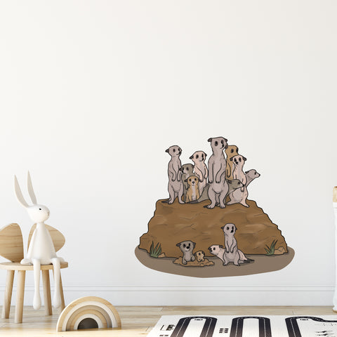 Meerkat Family Safari Collection Wall Sticker