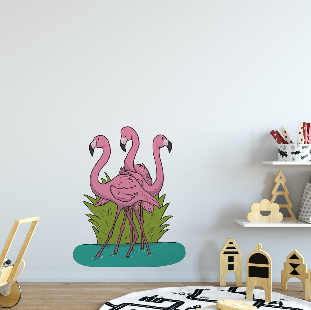 Flamingo Safari Collection Wall Sticker