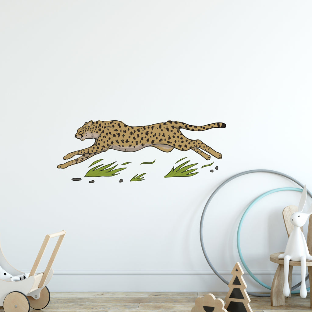 Cheetah Safari Collection Wall Sticker