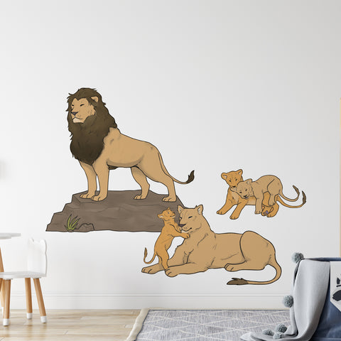 Lion Pride Safari Collection Wall Sticker