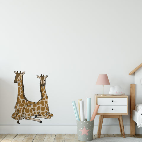 Baby Giraffe Safari Collection Wall Sticker