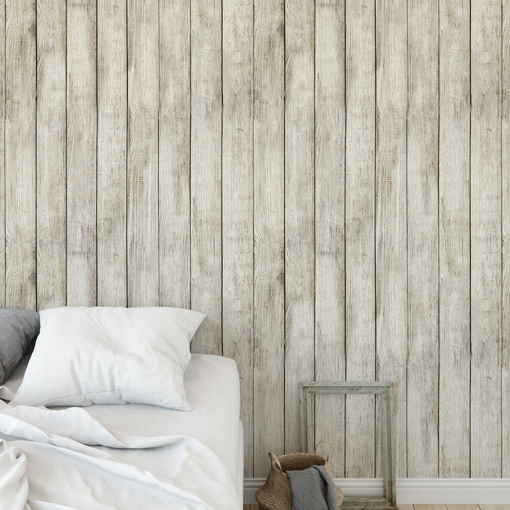 Worn Out Wooden Planks Wallpaper Sample