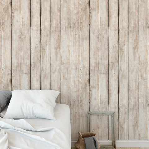 Worn Out Wooden Planks Wallpaper