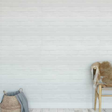 White Brick Texture Wallpaper Sample