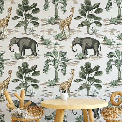 Safari Nursery Wallpaper Sample