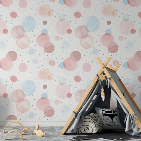 Watercolour Dots Wallpaper Sample