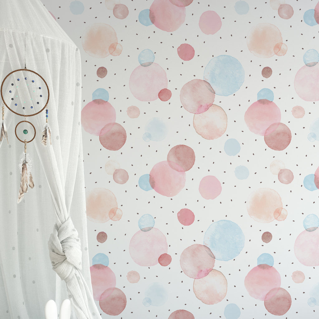 Watercolour Dots Wallpaper
