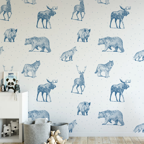 Woodlands Nursery Creature Wallpaper Sample