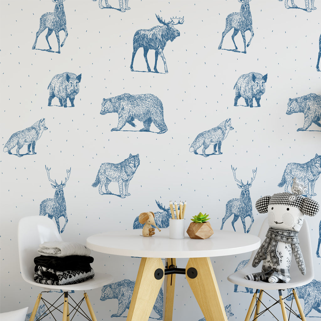 Woodlands Nursery Creature Wallpaper