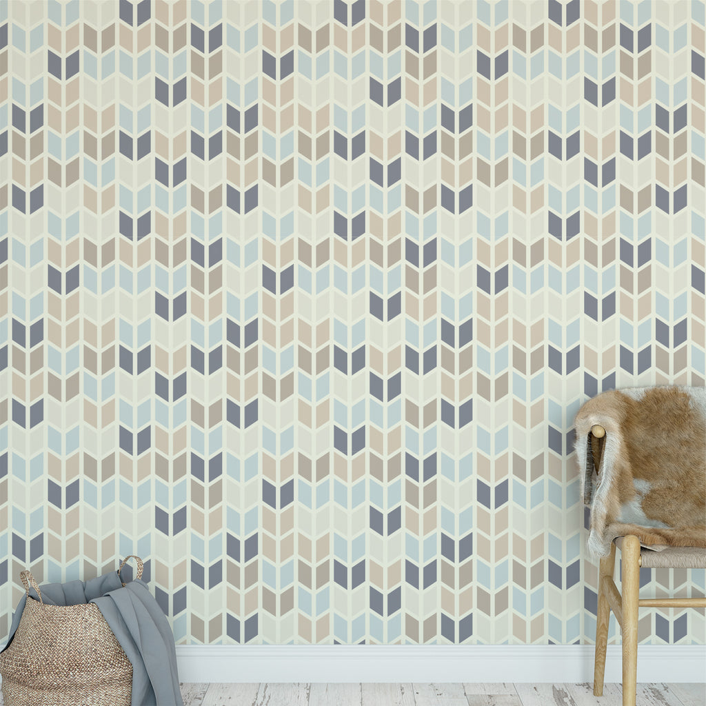 Chevron Geometric Pattern Wallpaper