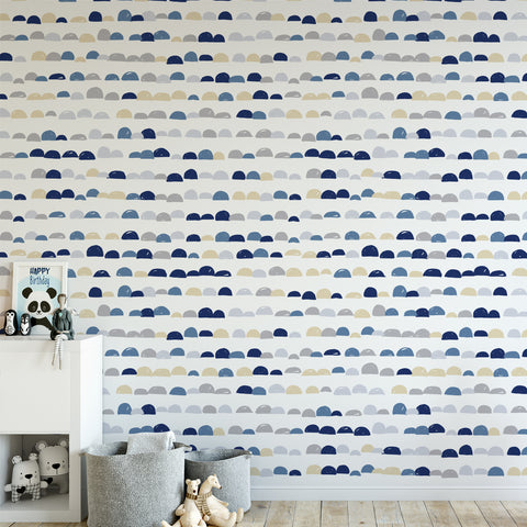 Scallop Pattern Wallpaper Sample