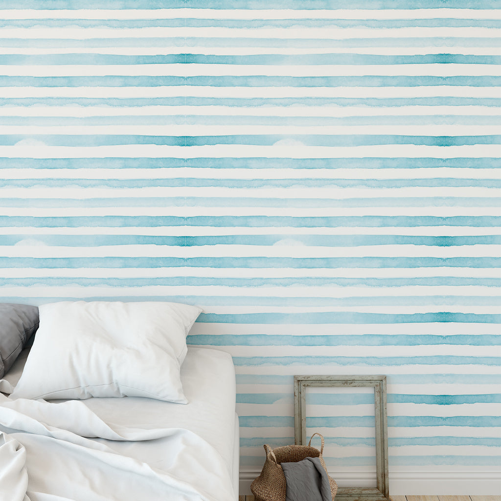 Watercolour Stripes Wallpaper Sample