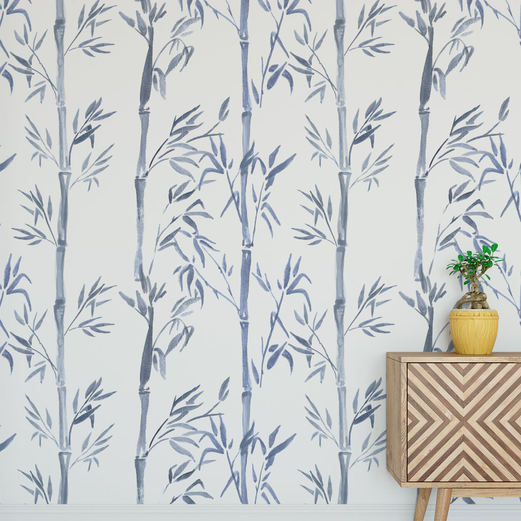 Bamboo Watercolour Wallpaper Sample
