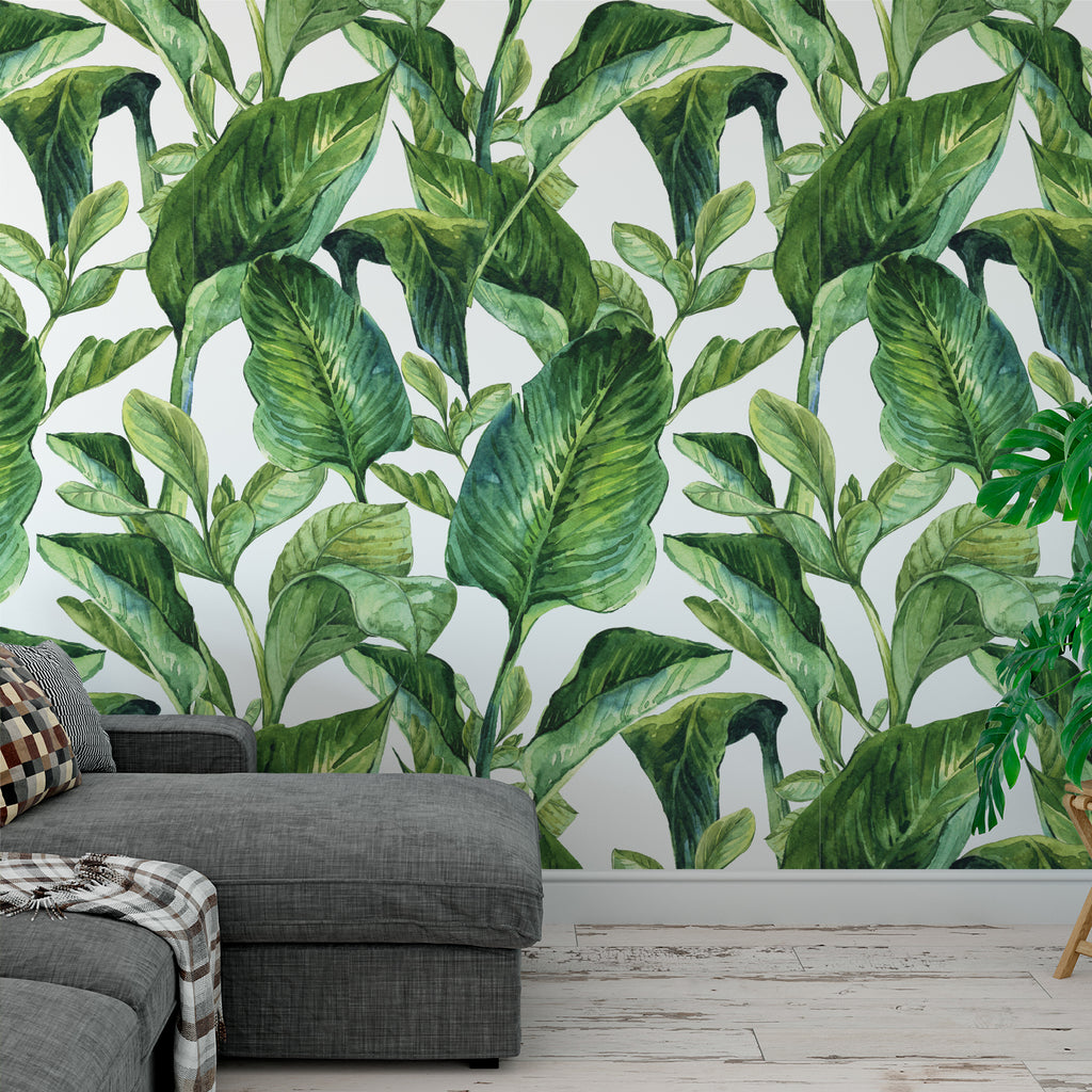 Banana Leaf Greenery Wallpaper