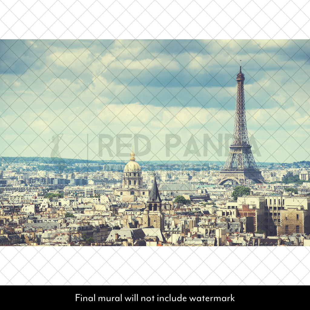 Paris Skyline Wall Mural