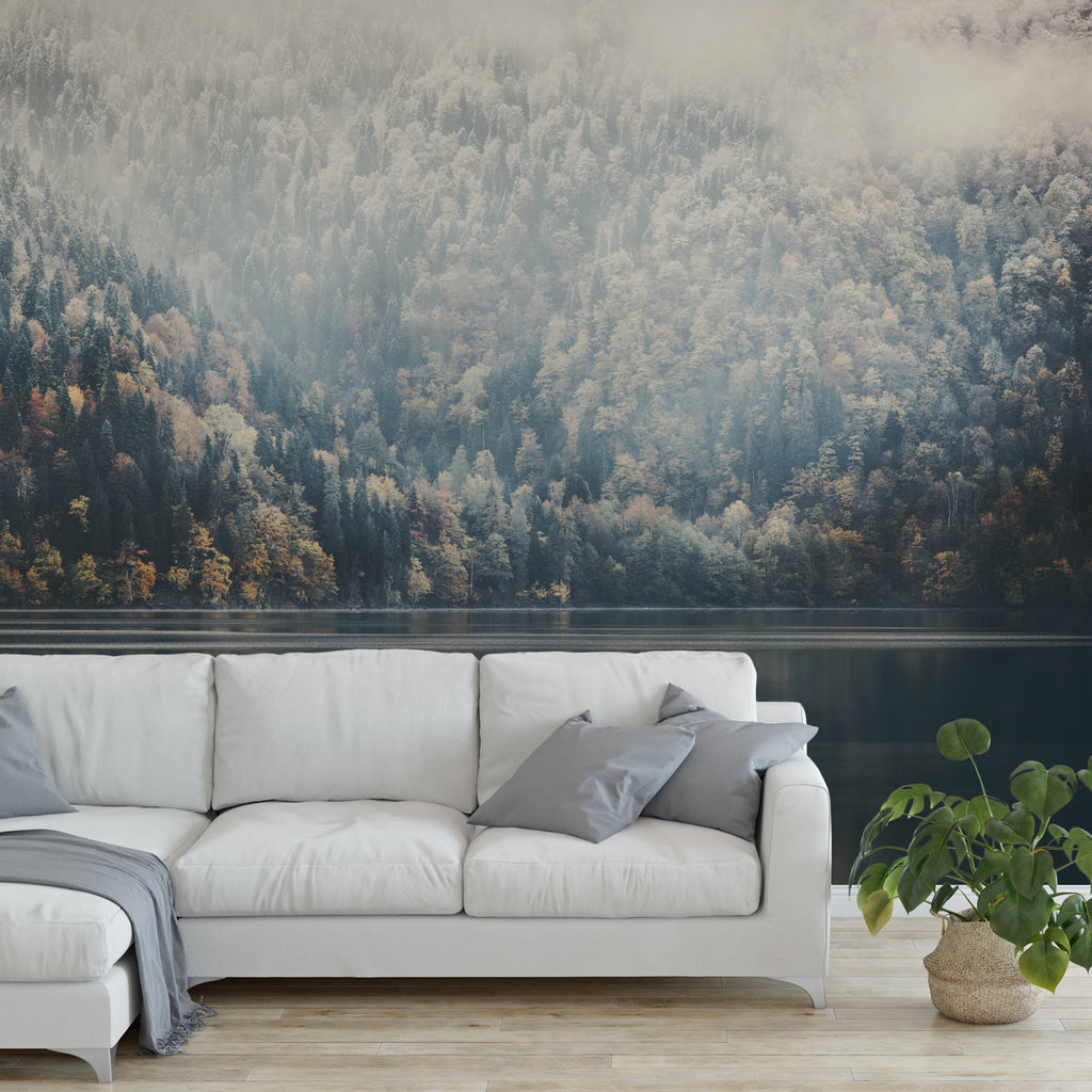 Forest Lake Wall Mural