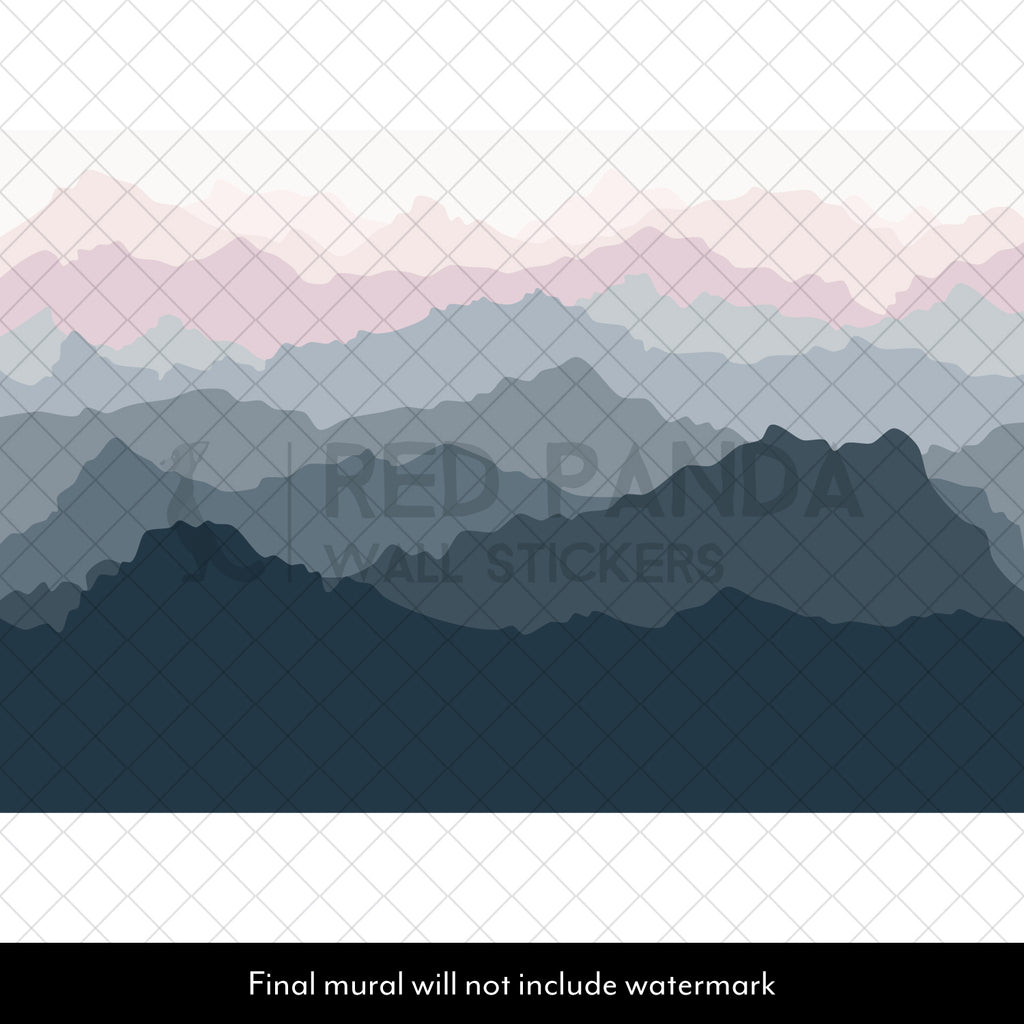 Scandinavian Mountain Nursery Wall Mural