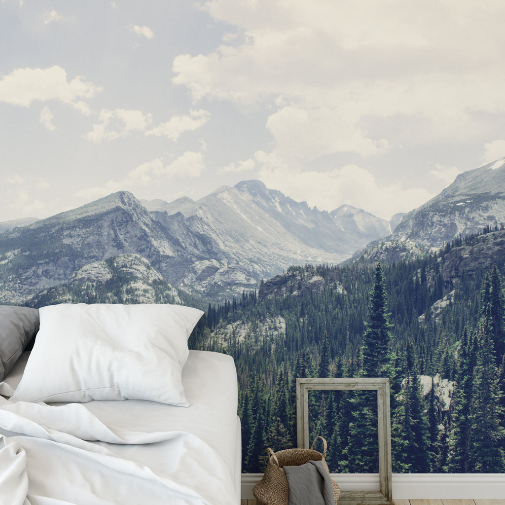 Snowy Mountain Wall Mural