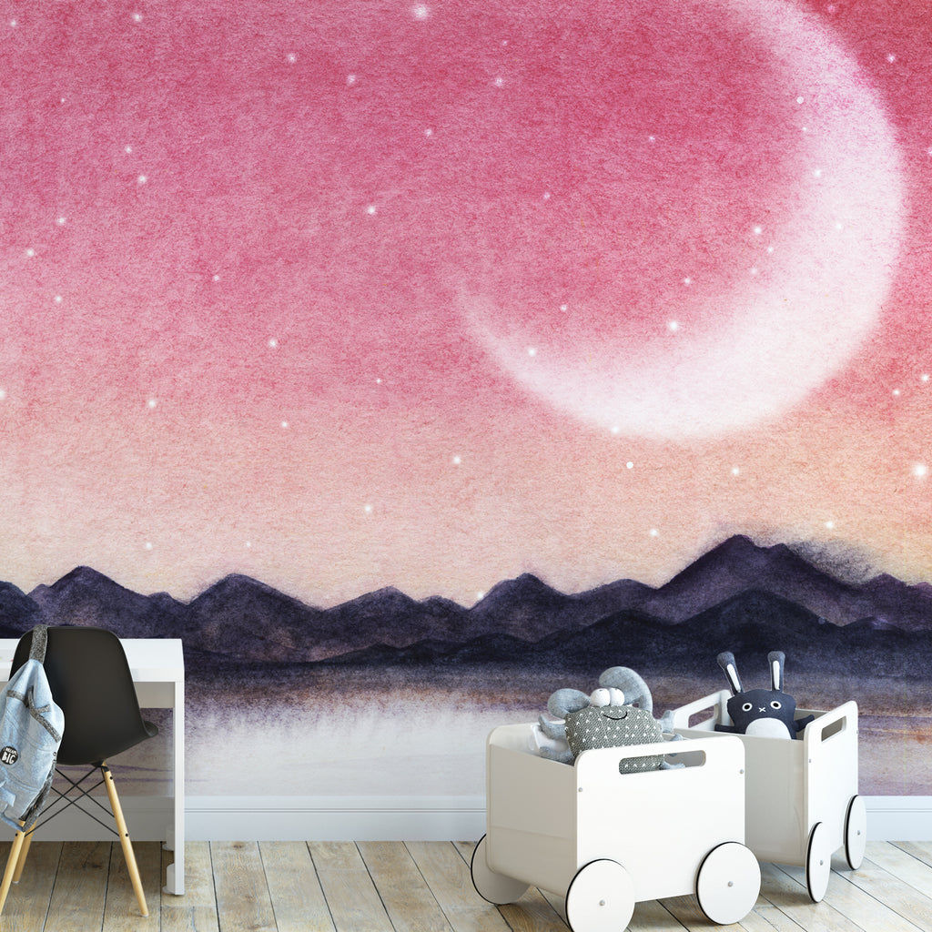 Watercolour Red Lake Wall Mural