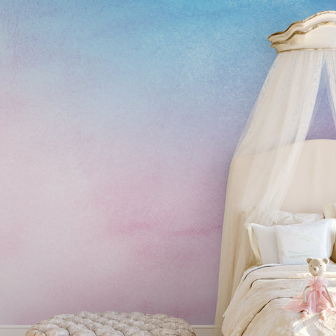 Pastel Pink & Blue Wall Mural