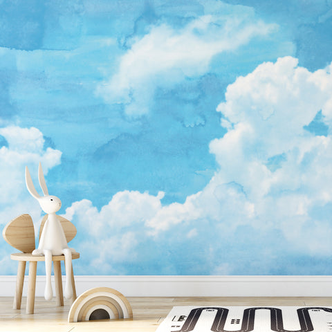 Sky Watercolour Wall Mural