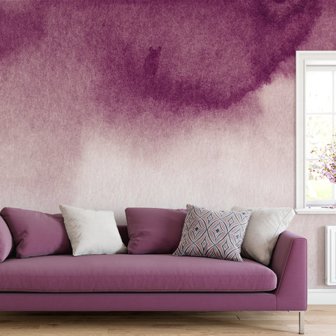 Burgundy Watercolour Wall Mural