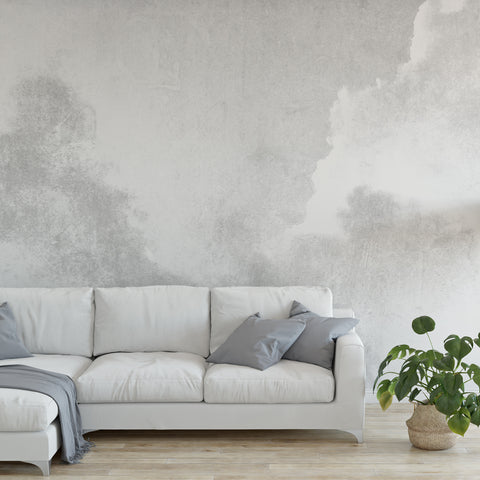 Grey Watercolour Wall Mural