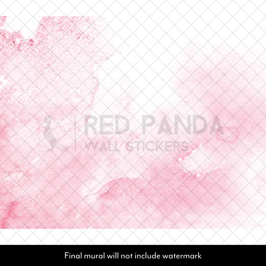 Pink Watercolour Wall Mural