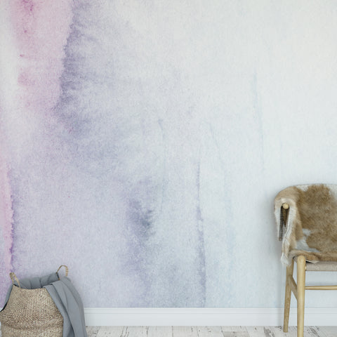 Purple Watercolour Wall Mural