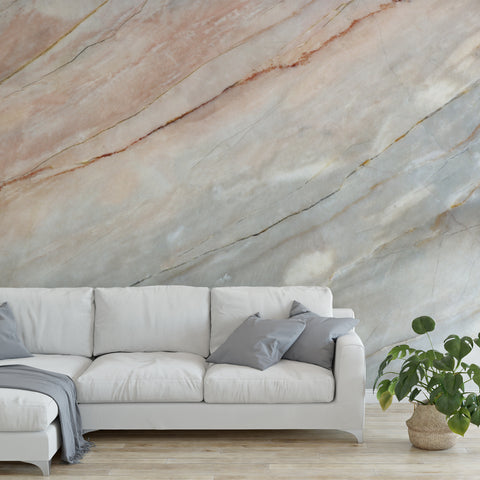 Red Marble Wall Mural