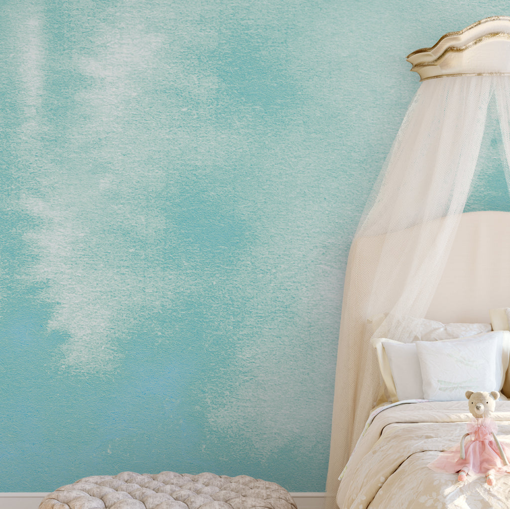 Turquoise Watercolour Wall Mural