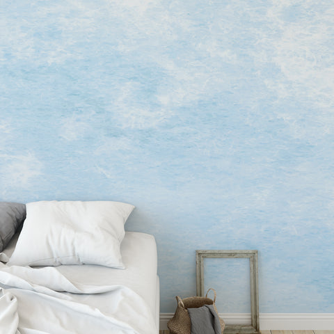 Watercolour Blue Wall Mural