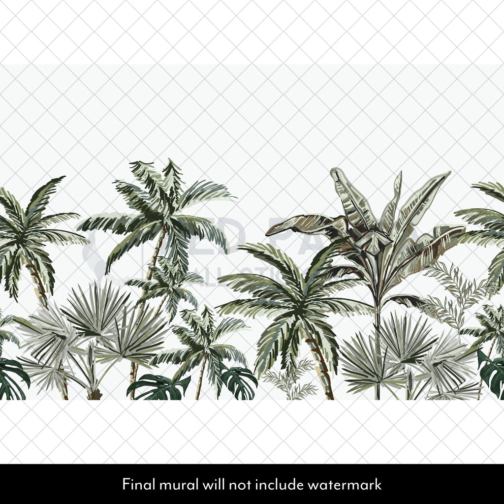 Tropical Tree Collection Wall Mural
