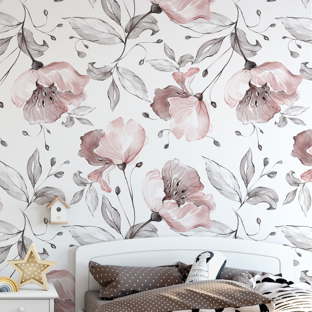 Spring Flowers & Leaves Wall Mural