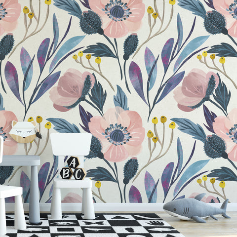 Floral Paper Textured Wall Mural