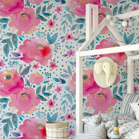 Watercolour Floral Wall Mural