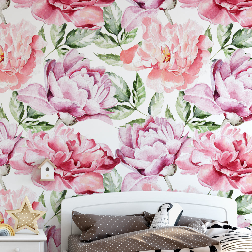 Large Peonies Wall Mural