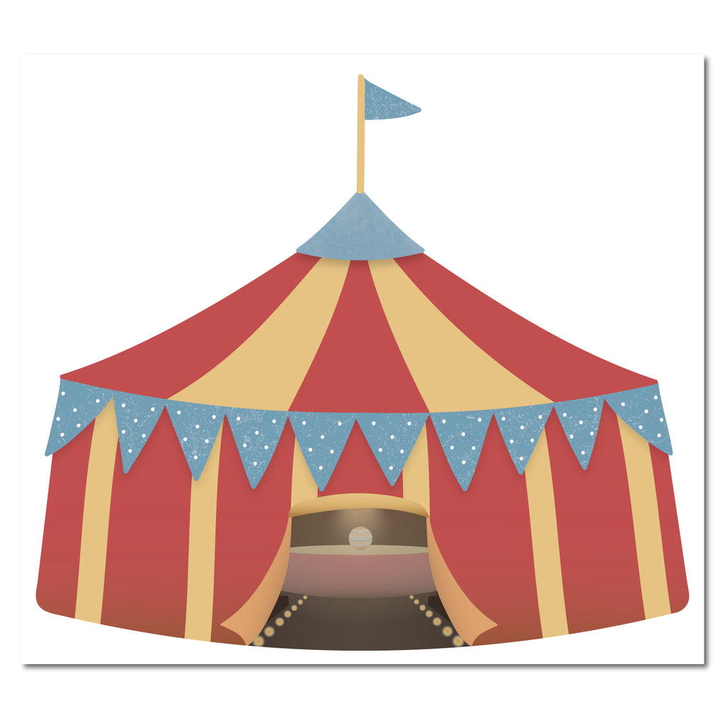 Circus Tent Wall Sticker